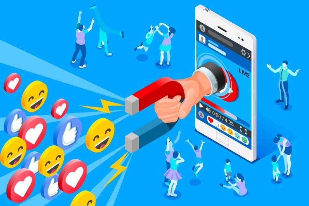 Redes sociales por internet